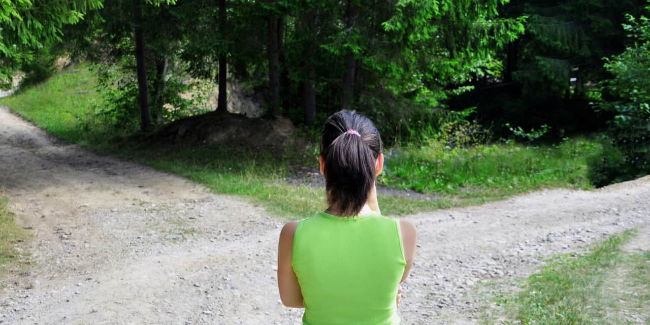 woman at the crossroads